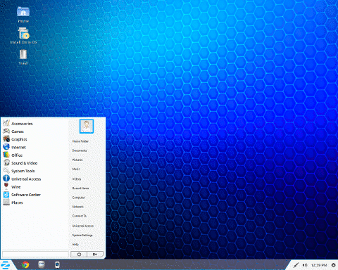vista do desktop